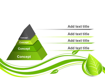Tender Green Spring Leaf PowerPoint Template, Slide 4, 07618, Nature & Environment — PoweredTemplate.com