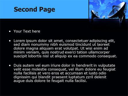 Parabolic Antennas of Long Range Communication PowerPoint Template, Slide 2, 07620, Telecommunication — PoweredTemplate.com