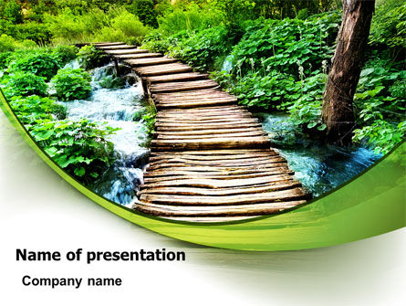 Business Concepts: Wooden Path PowerPoint Template #07621