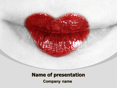 Careers/Industry: Heart Lips PowerPoint Template #07622