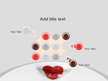 Heart Lips PowerPoint Template Slide 10