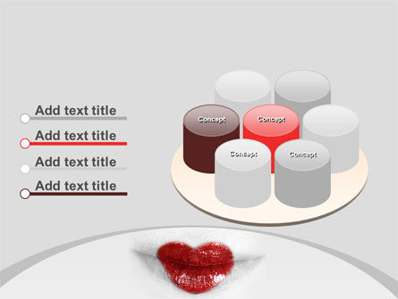 Heart Lips PowerPoint Template Slide 12
