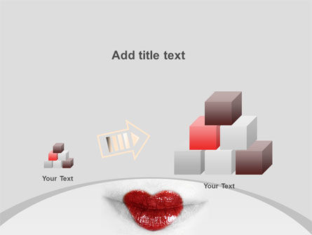 Heart Lips PowerPoint Template Slide 13