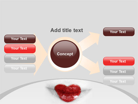 Heart Lips PowerPoint Template Slide 15
