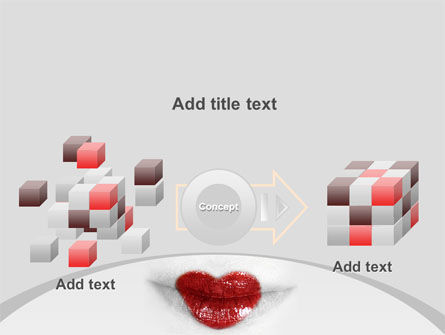 Heart Lips PowerPoint Template Slide 17