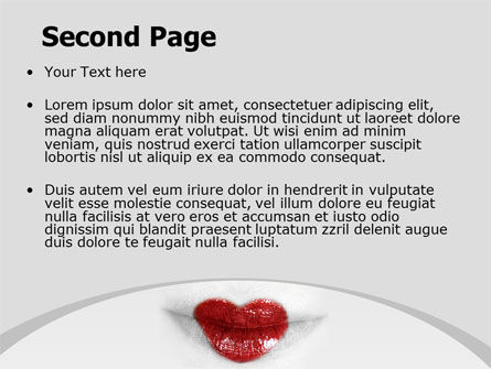 Heart Lips PowerPoint Template, Slide 2, 07622, Careers/Industry — PoweredTemplate.com