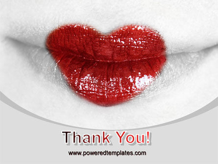 Heart Lips PowerPoint Template Slide 20