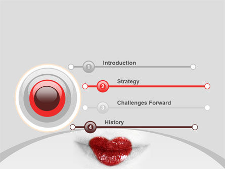 Heart Lips PowerPoint Template, Slide 3, 07622, Careers/Industry — PoweredTemplate.com