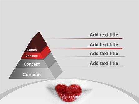 Heart Lips PowerPoint Template, Slide 4, 07622, Careers/Industry — PoweredTemplate.com