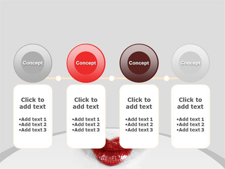 Heart Lips PowerPoint Template Slide 5