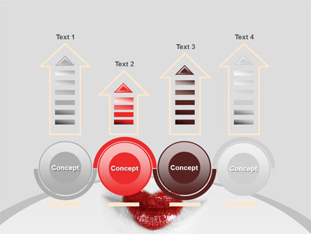 Heart Lips PowerPoint Template Slide 7