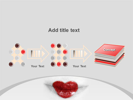 Heart Lips PowerPoint Template Slide 9