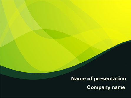 Green Leaf Design PowerPoint Template