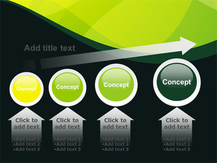 Green Leaf Design PowerPoint Template Slide 13