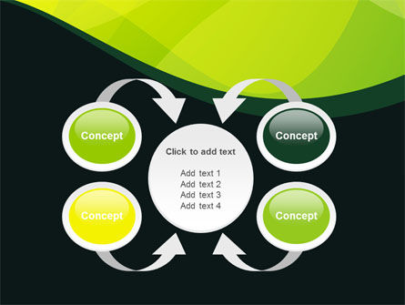 Green Leaf Design PowerPoint Template Slide 6