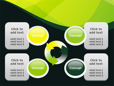 Green Leaf Design PowerPoint Template Slide 9