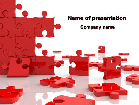 Pieces Falling Apart PowerPoint Template, 07624, Consulting — PoweredTemplate.com