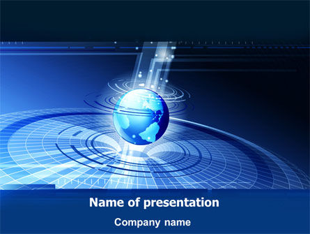 Global: Center Wereld PowerPoint Template #07625