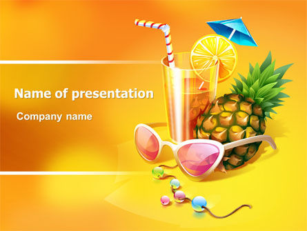 Careers/Industry: Tropical Vacation PowerPoint Template #07626