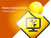 Construction: Tech-support-zeichen PowerPoint Vorlage #07627