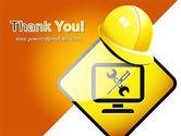 Tech Support Sign PowerPoint Template#20