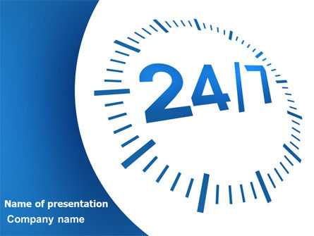 Consulting: 24-7-365 PowerPoint Template #07630
