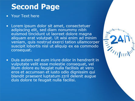 24-7-365 PowerPoint Template Slide 2
