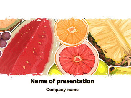 Food & Beverage: Fruit Pulp PowerPoint Template #07631