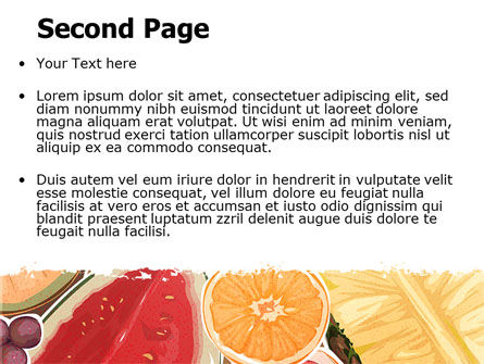 Fruit Pulp PowerPoint Template Slide 2