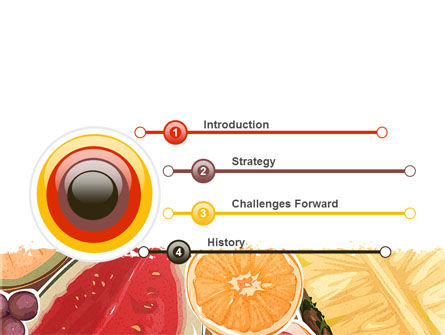 Fruit Pulp PowerPoint Template Slide 3