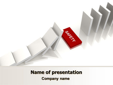 Safety Domino Theme PowerPoint Template, 07633, Business Concepts — PoweredTemplate.com