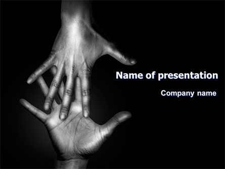 Religious/Spiritual: Reaching Hands PowerPoint Template #07634