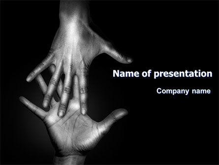 Reaching Hands PowerPoint Template