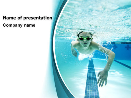 Sports: Underwater Picture Of Swimming Pool PowerPoint Template #07635