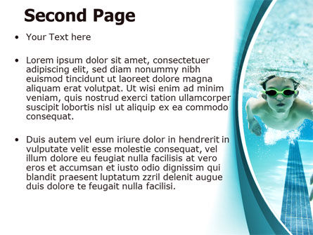 Underwater Picture Of Swimming Pool PowerPoint Template Slide 2