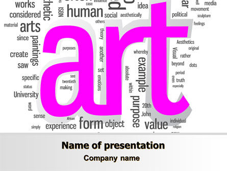Font Collage PowerPoint Template, 07636, Art & Entertainment — PoweredTemplate.com