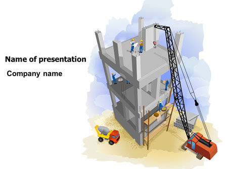 Building Site PowerPoint Template, 07639, Construction — PoweredTemplate.com