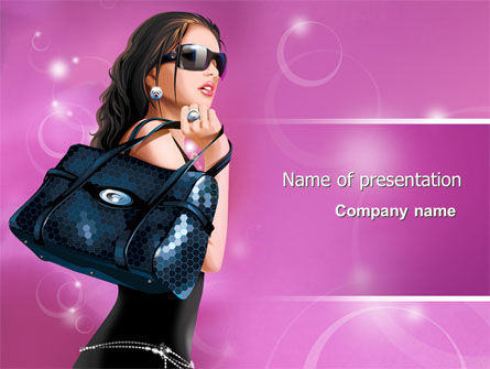 Careers/Industry: Fascination Girl PowerPoint Template #07640