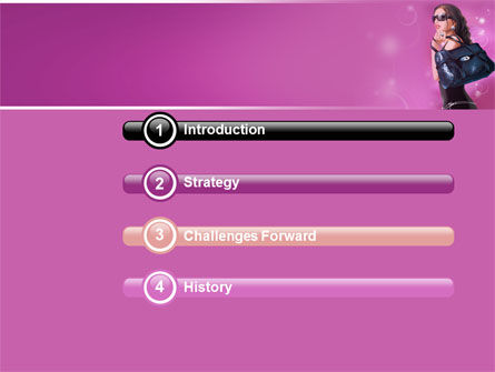Fascination Girl PowerPoint Template Slide 3