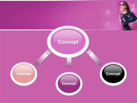 Fascination Girl PowerPoint Template Slide 4