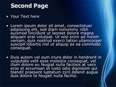 Glowing Threads PowerPoint Template#2