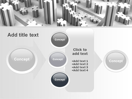 Free Jigsaw City PowerPoint Template Slide 17