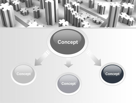 Jigsaw City Free PowerPoint Template, Slide 4, 07642, Consulting — PoweredTemplate.com