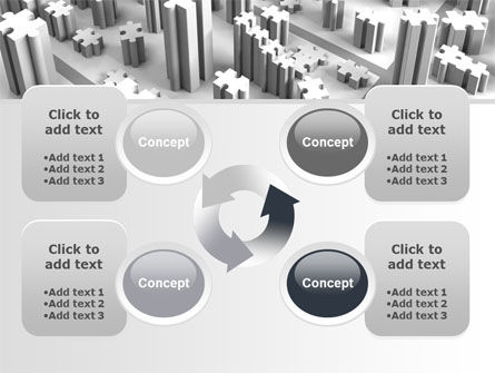 Free Jigsaw City PowerPoint Template Slide 9