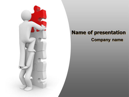 Jigsaw Ladder PowerPoint Template, 07644, Consulting — PoweredTemplate.com