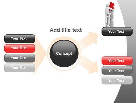 Jigsaw Ladder PowerPoint Template Slide 15