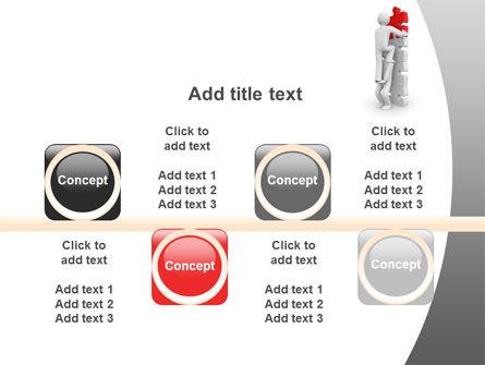 Jigsaw Ladder PowerPoint Template Slide 18