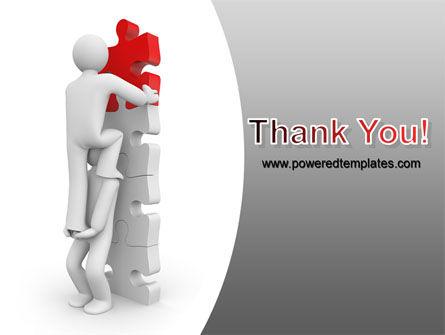 Jigsaw Ladder PowerPoint Template Slide 20
