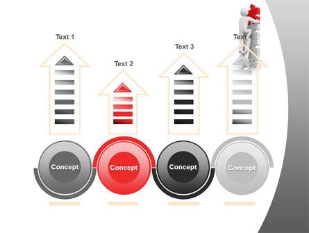 Jigsaw Ladder PowerPoint Template Slide 7