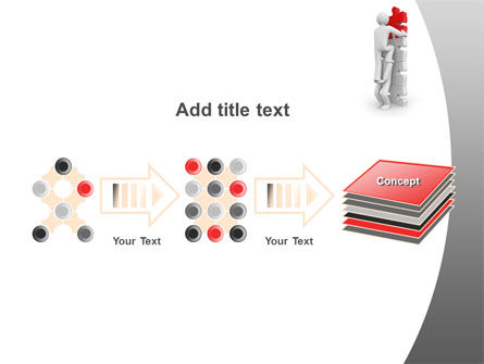 Jigsaw Ladder PowerPoint Template Slide 9